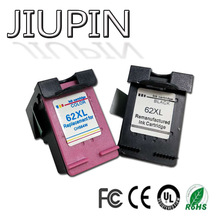 JIUPIN 2PK Compatible for 62XL Ink Cartridge hp62 62 5640 5660 7640 5540 5544 5545 5546 5548 Officejet 5740 5741 5742 5743 5
