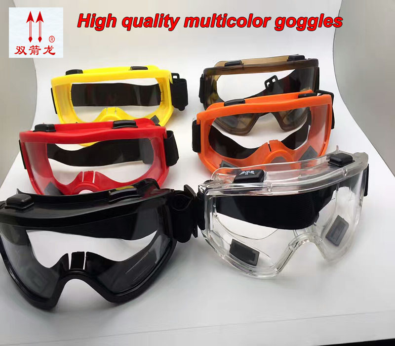 high quality protective glasses 7 colors PC lens protective glasses safety Anti-shock dust-proof Ride safety work glasses safurance protective glasses pc scratch safety ride movement wind and dust proof goggles workplace safety
