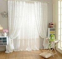 Sunnyrain 1 piezas de Rose en forma de blanco tulle cortina para dormitorio Sala Cortinas cortinas de lujo para sala de niños
