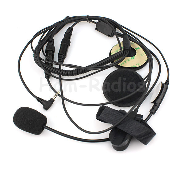 Helm Sepeda Motor Headset Mikrofon untuk YAESU Vertex VX-3R, VX-5R VX-400 VX-160 Radio dengan PTT 1 Pin 3.5mm