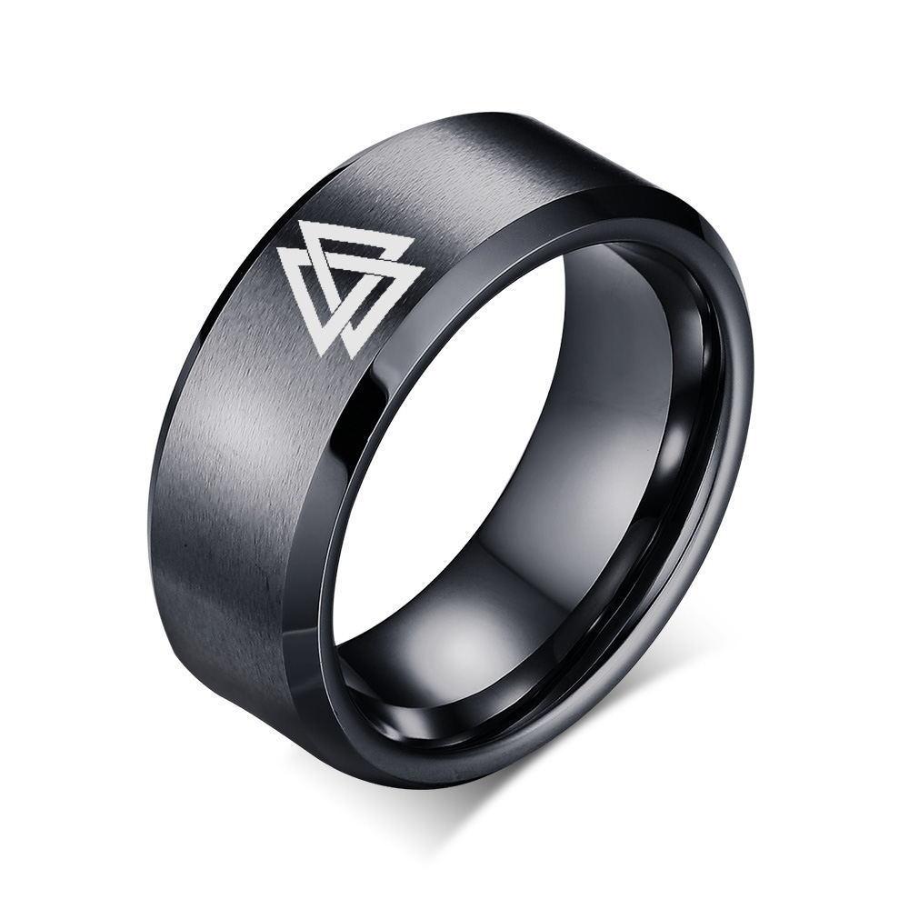 d52fbc600eff Laser Engraving Black Men Wedding Rings Viking Celtics Om Zelda Three-Phase  Goddess Allah Star