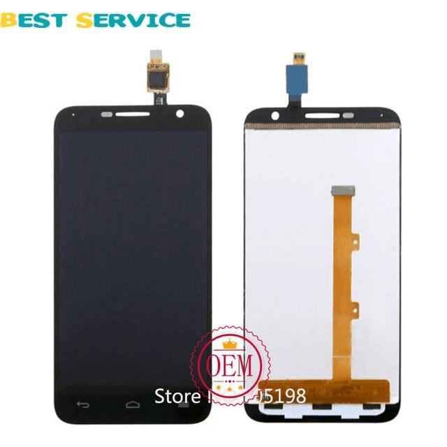 Для Alcatel One Touch Idol 2 mini 6016 OT-6016A 6016X 6016D 6016E ЖК-Дисплей с Сенсорным Экраном Дигитайзер Ассамблеи Черный белый