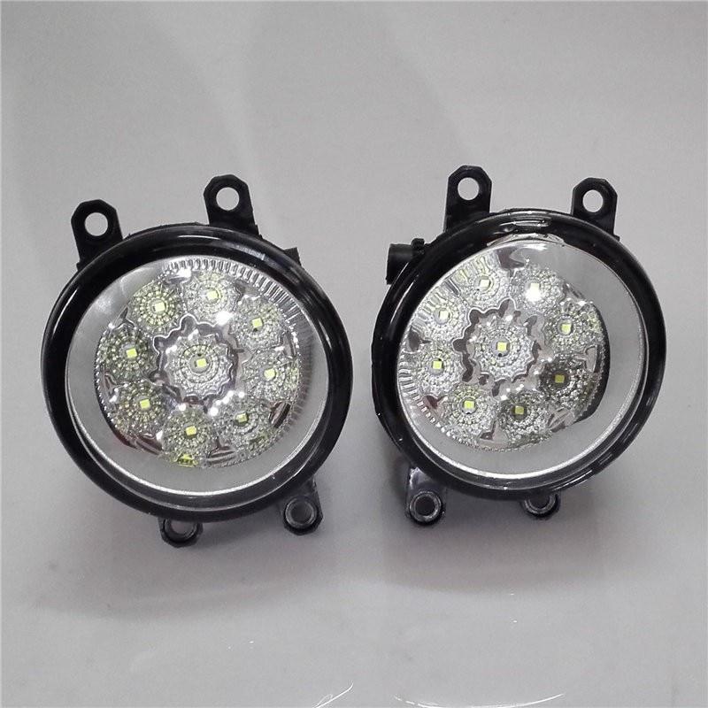 For TOYOTA COROLLA sedan E12J E12T 2006-2013 Car styling front bumper LED fog Lights high brightness lamps 1set