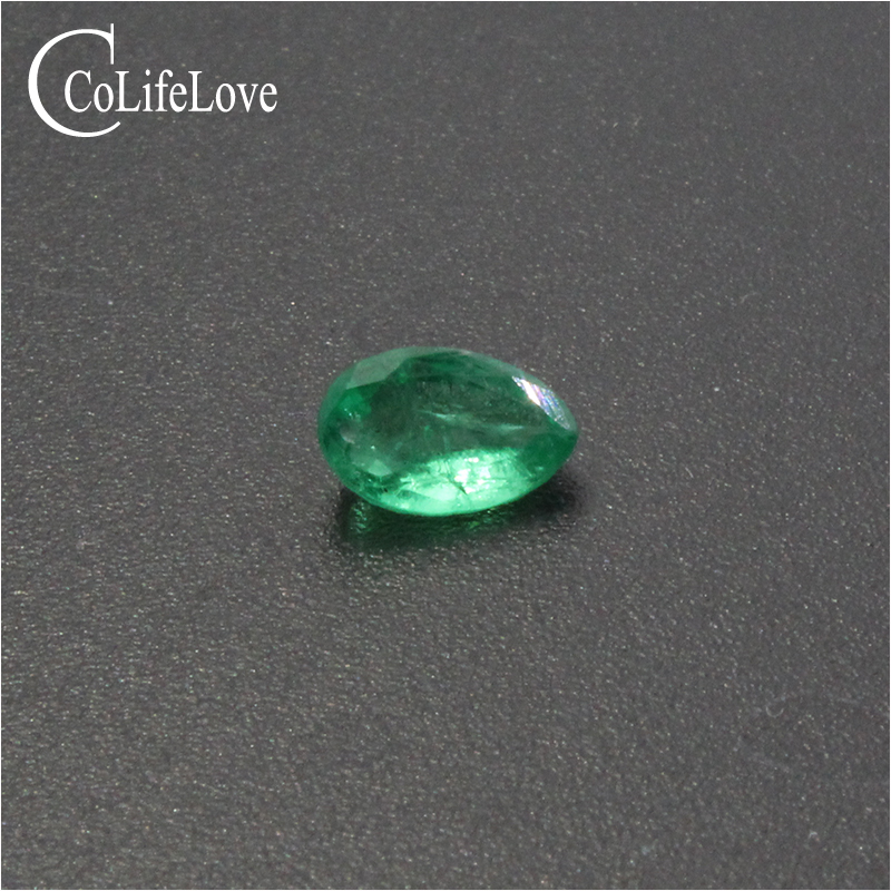 Only one piece natural emerald loose gemstone 4.2mm * 6.4 mm pear cut dark green emerald for jewelry DIYOnly one piece natural emerald loose gemstone 4.2mm * 6.4 mm pear cut dark green emerald for jewelry DIY