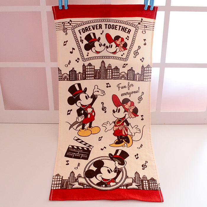 Cartoon Mickey Minnie Towel Cute Baby Handkerchief Cotton Children Portable Printed Towels 35x75CM Kids Gifts hanky zakdoek