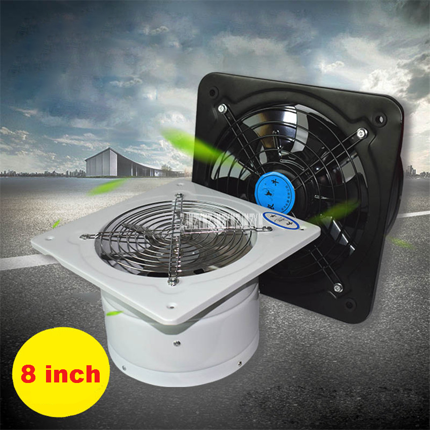 New Hot YNF-200 Exhaust Fan High Speed Fan Kitchen Bathroom Pipe Exhaust Fan Industry Blower Diameter 200MM AC220v 80W 2600r/min fan window kitchen fume exhaust fan mute shutter blower