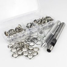 100pcs 8mm Eyelets with Washers & Tool Kit for Leather Craft Garment Repairing Grommet 4 colors available
