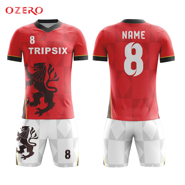 a51e17b68 Professional custom design blank soccer jersey 140 170 gsm 3d t shirt  animal printing Suit Team Custom Football Shirts Jersey