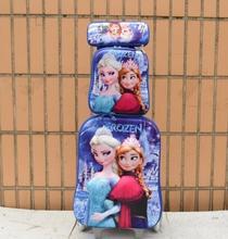 Nova moda menina Elsa & Anna coroa conjunto mala de viagem da bagagem (caixa de almoço + Caneta + saco do trole da bagagem) bagagem com rodas(China (Mainland))