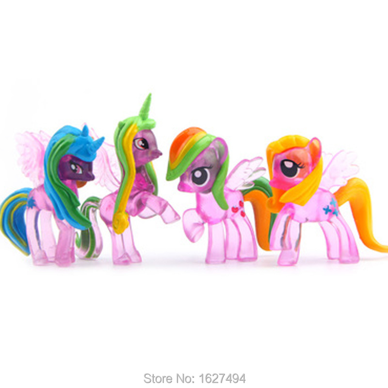 Princess Celestia Rainbow Dash Statue PVC Action Figure Plastic Horses Cheap Anime Figures Figurines Kids Toys For Boys Girls