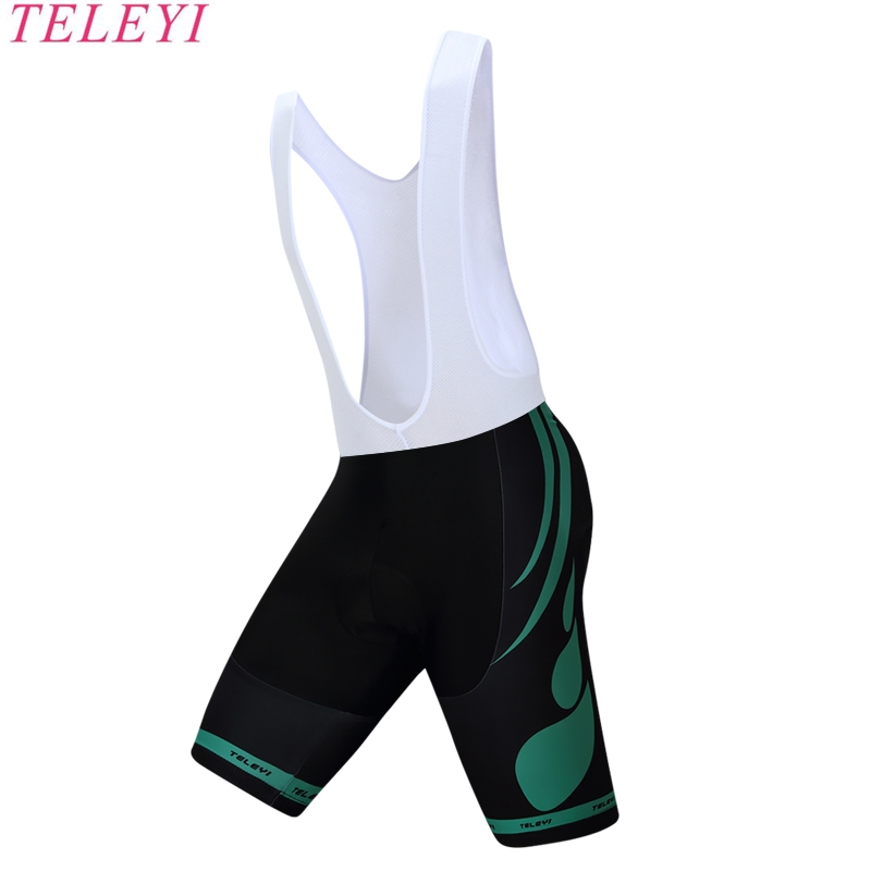 teleyi Black Cycling Bib Shorts PRO TEAM Race Lightweight Cycling/Bike Shorts Bottom Italy grippers at leg High density 9D PAD