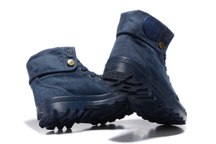 PALLADIUM Pallabrouse quần jean Màu Xanh Sneakers Lần Lượt giúp Người Đàn Ông Cổ Chân Quân Khởi Giày Vải Nam Giới Thường Giày Thường Eur Kích Thước 39-45