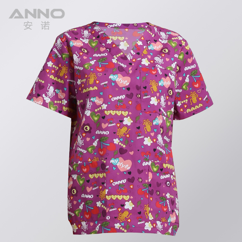 Image 3 - ANNO Medical Clothing Matching Women Men Cartoon  Hospital Nursing Scrubs Set Clinical Uniforms Surgical SuitScrub Sets   -