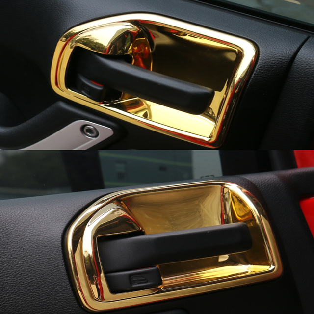 Yaquicka 4pcsset gold car interior door handles bowl decoration yaquicka 4pcsset gold car interior door handles bowl decoration cover trim fit for wrangler planetlyrics Images