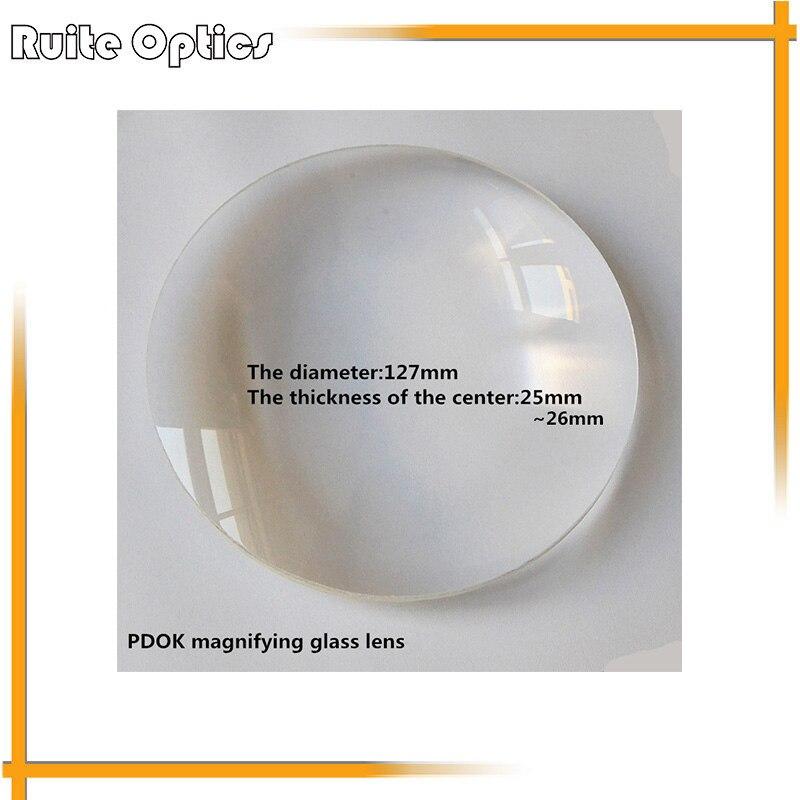 127 mm 3x židinio nuotolio 80 mm didelis dvigubai išgaubtas baltas optinio stiklo objektyvas PDOK padidinamojo stiklo objektyvas