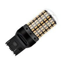 1 adet T20 W21/5W 7443 Canbus hata ücretsiz süper parlak 2000LM LED 21/5W otomatik fren lambası araba kuyruk sis lambaları dönüş sinyalleri ampul