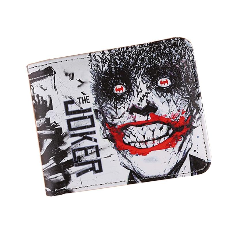 Hot High Quality Flash Man Joker Movies Anime Wallets Women Short Slim Students Female Purse Mini Money Cards Photo Bag For Gift
