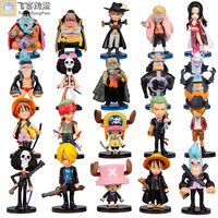 Anime Animation One Piece Luffy Zoro Action Figures PVC Figures Collection Model Q Version Toys 20pcs