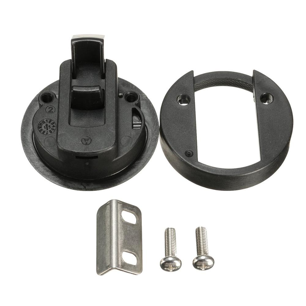 Image 4 - HCSSZP 4 Pieces 2 inch Round Black Flush Pull Slam Latch for RV Boat Marine Deck Hatch Door Replacement Free Shipping-in RV Parts & Accessories from Automobiles & Motorcycles