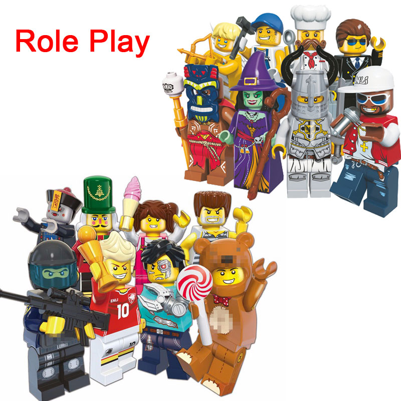New Mini Collective Edition Figures Brick SWAT Policeman Wizard Zombie Angel Figures Building Block DIY Enlighten Toy For Kids элтон джон elton john goodbye yellow brick road deluxe edition 2 cd