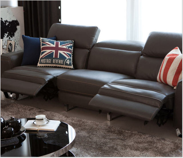 Living Room Sofa set 4 seater sofa recliner electrical couch genuine ...