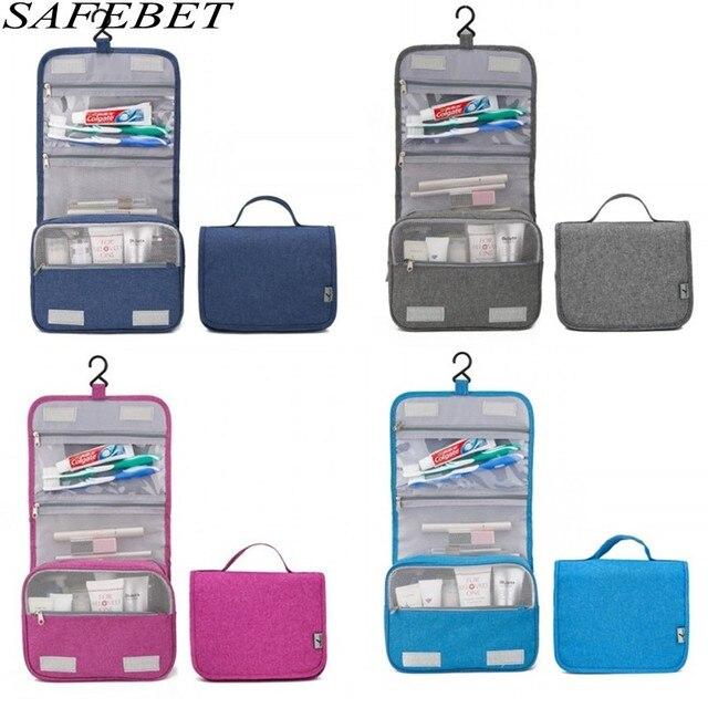 279580cc33e5 SAFEBET Brand Women Men Travel Large Waterproof Makeup bag Beauty Cosmetic  Bag Organizer Case Necessaries Make Up Toiletry Bag