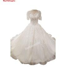 Backlakegirls Vintage Ball Gowns Wedding Dress Short Sleeve