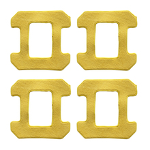 Parts Tools Kit Replacement Attachment Accessories Mop cloth 4pcs For HOBOT 268 Cleaning Yellow Vacuum cleaner цена и фото