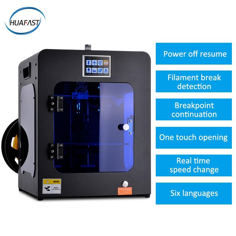 HUAFAST 3d mini imprimante compatible rampes extrudeuse unique 0.4 buse usb câble imprimante couleur impressora 3d grande guide linéaire