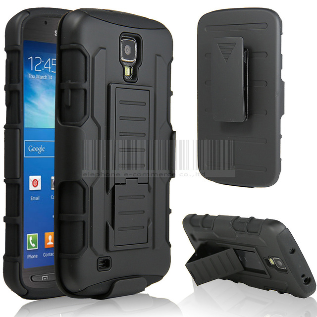 samsung galaxy s4 phone black. black protective armor impact holster hybrid hard case for samsung galaxy s4 active i537 i9295 phone samsung galaxy i
