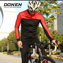 DONEN 2018 Thermal Cycling Jacket Winter Warm Up Bicycle Clothing Windproof Soft Fleece complex Coat MTB Bike Jersey