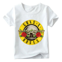 Children Rock Band Gun N Roses Print Tshirt