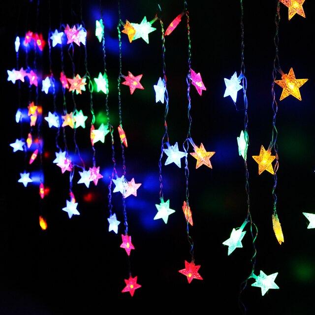 Светодиодные строки Свет маленькая звезда новогоднее украшение 3.5 М AC 220 В led лед полоса Новый год для использования в помещении свет гирлянды светодиодные luminarias UW