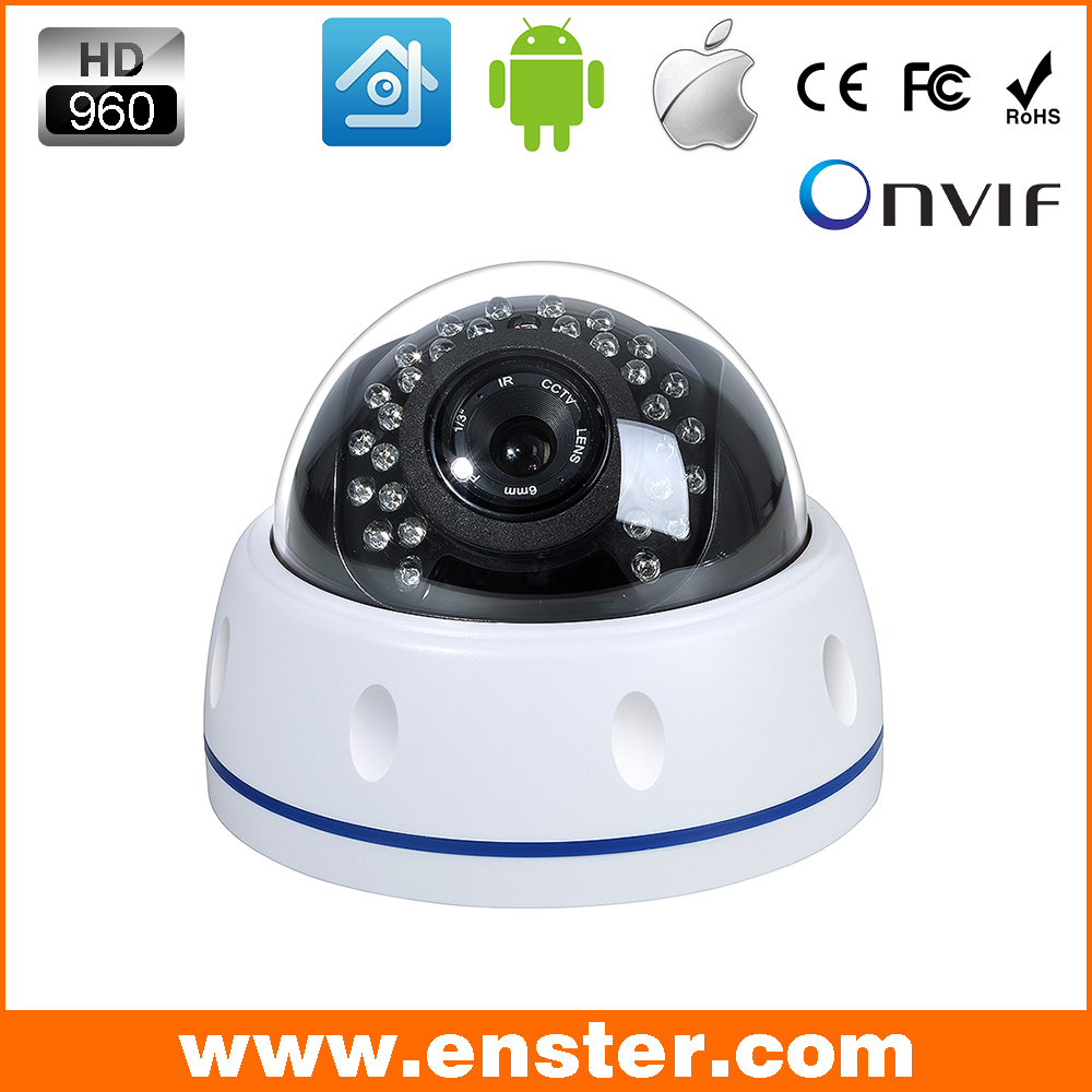 Enster IP Camera Indoor Dome Security Plastic Material ONVIF HD 960P H.264 Night Vision P2P Surveillance IP Camera от Aliexpress INT