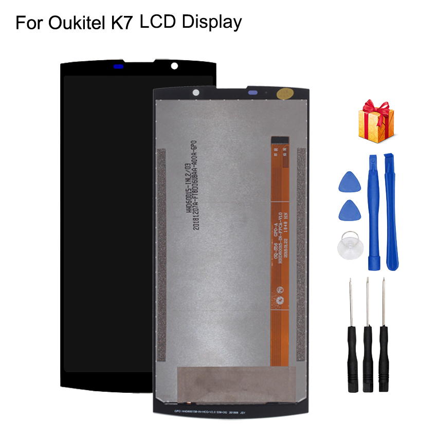 Original For Oukitel K7 LCD Display Touch Screen Digitizer Power Assembly Phone Parts