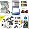 Relógio de marcação máquina de impressão da almofada com o copo de tinta e as placas e copo da tinta
