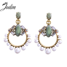 JOOLIM Jewelry Wholesale/Gorgeous Simulated Pearl Earring Chandelier Earring Party Earring Statement Women Gift Indian Jewelry