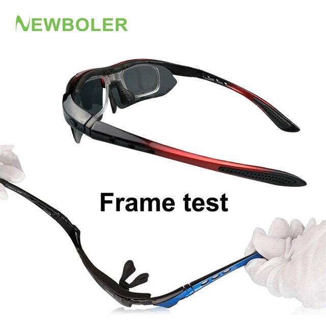 NEWBOLER 2 Frame Polarized Ciclismo Óculos de Sol Das Mulheres Dos Homens de Esportes Ao Ar Livre Óculos de Bicicleta Bicicleta Óculos Goggles Óculos Lente 5 5