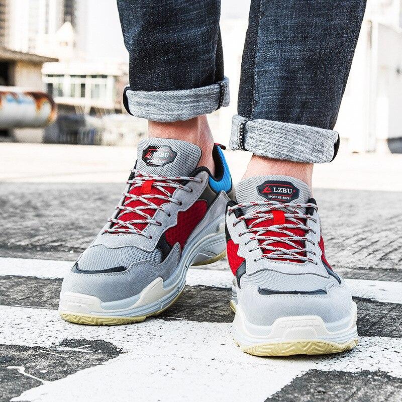 LZBU 2018 New Fashion Brand Sneakers Retro men Shoes Harajuku Casual Shoes mens Thick Bottom men Sneakers Platform Shoes 20T014