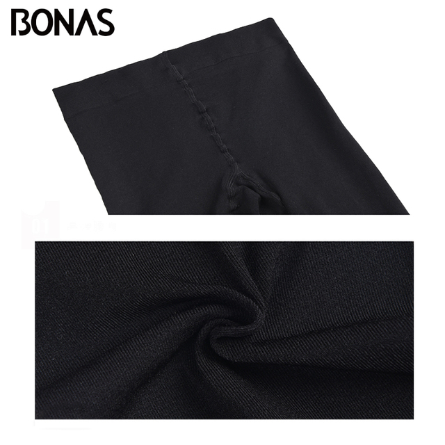 BONAS 200D Tights Autumn Sexy Velvet Seamless Pantyhose Women Warm Elasticity Spandex Black Resistant 100KG Female Stockings 4