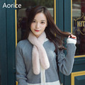 SCM053 Новых женщин реального рекс кролика шарф Корея стиль воротники зима теплая натурального меха кролика snood шарфы палантины