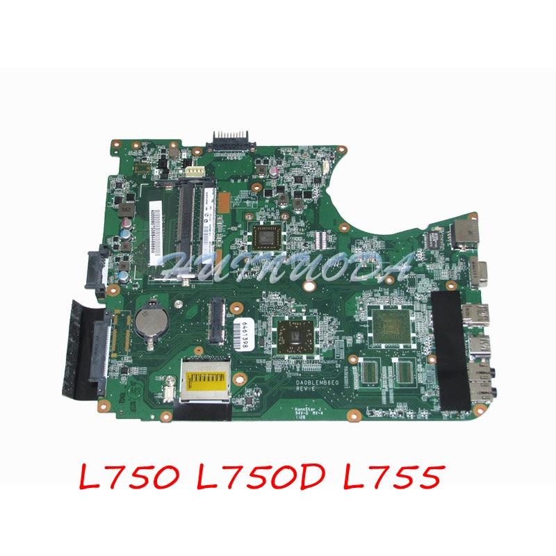 A000080750 for Toshiba Satellite L750 L750D L755 DA0BLEMB6E0 E350 CPU Onboard DDR3 ALL in one REV E Main board full tested цена 2017
