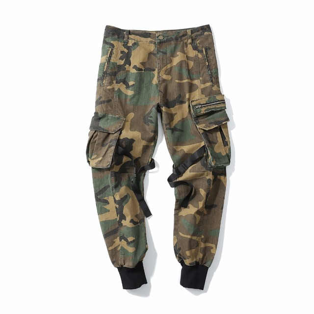 2018 nueva caliente hombres hip hop moda Pantalones de camuflaje hiphop  calle ropa joggers Pantalones de 8c28c168f9f