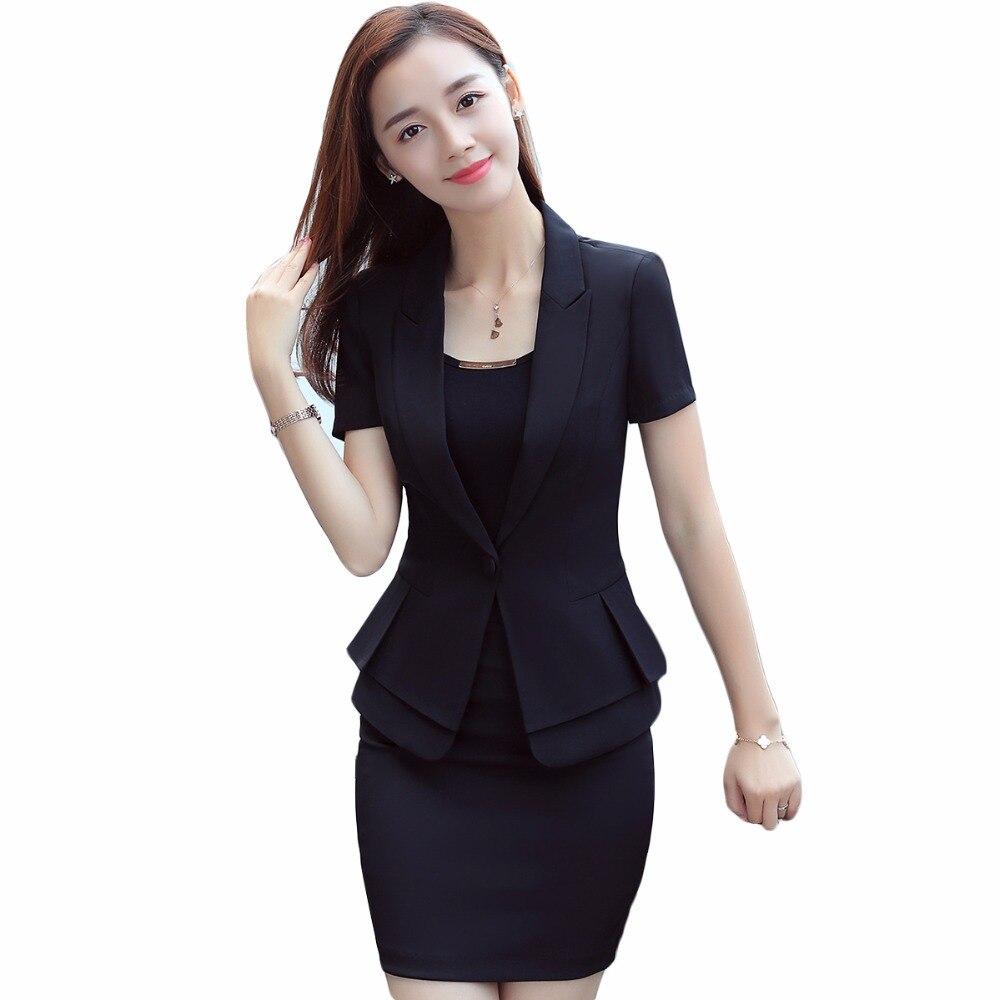 กางเกงสูท Designs ธุรกิจสวมใส่แขนสั้นสีดำเสื้อแจ็คเก็ตกับกางเกงสำหรับ Office Lady 2 ชิ้นชุด-ใน ชุดสูทกางเกง จาก เสื้อผ้าสตรี บน AliExpress - 11.11_สิบเอ็ด สิบเอ็ดวันคนโสด 1