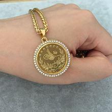 d62ce09264fa Pavo árabe moneda islam Alá musulmán colgante collar moneda joyería aceptar  drop shipping