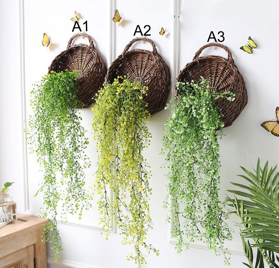 Home & Garden Punctual Artificial Flower Rattan Living Room Plastic Admiralty Willow Hanging Basket Ornaments For Home Decor Festive & Party Supplies