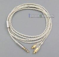 3.5mm Earphone Silver Foil Plated PU Skin Cable For Audio Technic CKS1100 E40 E50 E70 ESW950