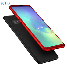 IQD Full Protection Case for Galaxy S10 Plus S10e Cover Shockproof Slim fit Samsung Note 9 8 S9 S8 Phone Cases