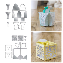 Christams 3D Candy Box Metal Cutting Dies for Scrapbooking DIY Album Paper Cards Craft Decorative Embossing Stencils New 2019