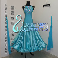 New Ballroom dance costumes sexy spandex stones ballroom dance dress for women ballroom dance competition dresses